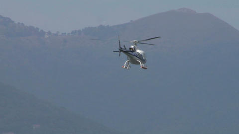 helicopter AS fly away Stock Video Footage