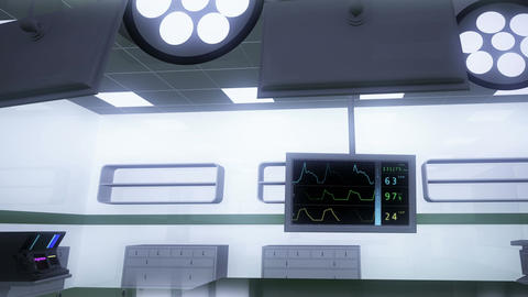4 K Operation Room EKG Monitor 6 Stock Video Footage