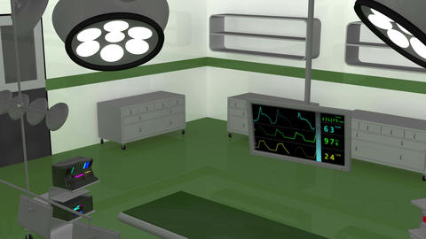 4 K Operation Room EKG Monitor 8 Stock Video Footage