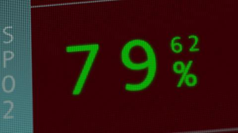 Operation Monitor Flat Signal Macro 3 Stock Video Footage