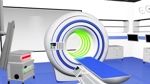 Operation Room MRI CT Machine 20 Stock Video Footage