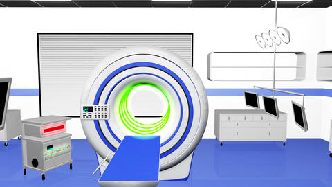Operation Room MRI CT Machine 20 Animation