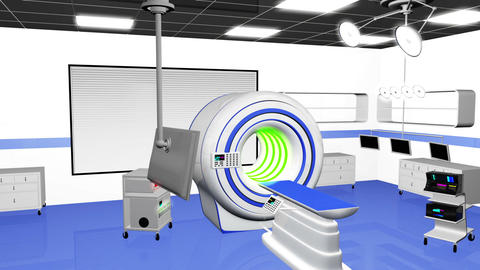 Operation Room MRI CT Machine 22 Stock Video Footage