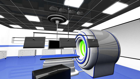 Operation Room MRI CT Machine 24 Animation