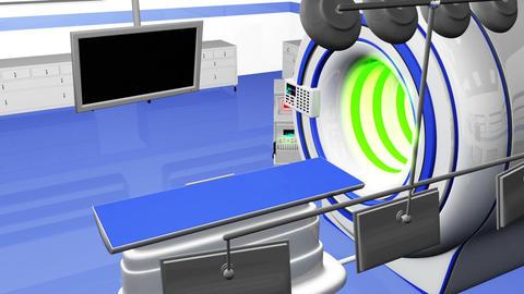 Operation Room MRI CT Machine 28 Stock Video Footage