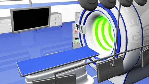 Operation Room MRI CT Machine 28 Stock Video Footage