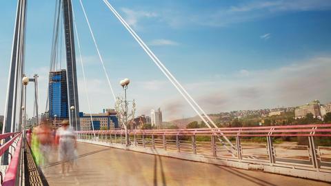 Bridge, Time Lapse, Long Exposure Stock Video Footage