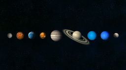 Planets Size Angle And Rotation stock footage