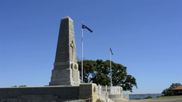 King's Park War Memorial in Perth, Western Australia Stock Video Footage