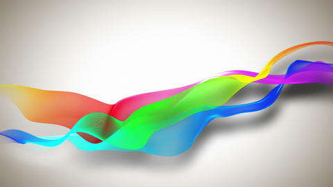 Abstract background with colored ribbons Stock Video Footage