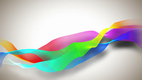 Abstract background with colored ribbons Animation