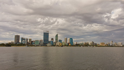 Perth City Time Lapse in Cloudy Skies Footage