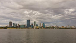Perth City Time Lapse in Cloudy Skies Stock Video Footage