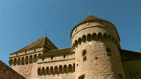 Chillon Castle g Stock Video Footage
