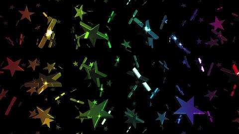 Looping Rainbow Stars Falling Stock Video Footage