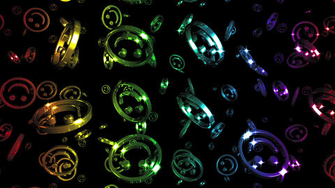 Looping Rainbow Smileys Falling Stock Video Footage