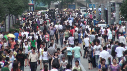 Shopping mall, busy, crowded, people, economy, Chi Stock Video Footage