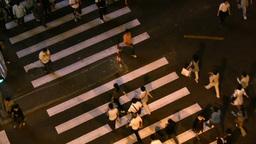 Busy zebra in Shanghai shopping street Stock Video Footage
