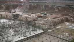 Construction site in China Stock Video Footage