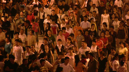 Group of people are dancing in China Stock Video Footage