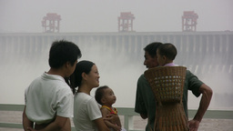 Future generations at Three Gorges Dam Footage