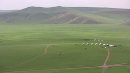 Yurts on the grasslands in Inner Mongolia, China Stock Video Footage