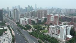 Guangzhou skyline near university Footage