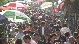 Busy market in Shanghai Stock Video Footage