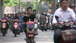 Early morning commuters in Shanghai Stock Video Footage