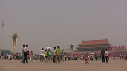 Overview of Tiananmen Square in Beijing, China Stock Video Footage