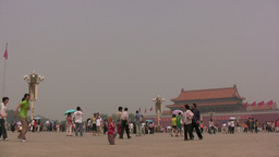 Overview of Tiananmen Square in Beijing, China ビデオ