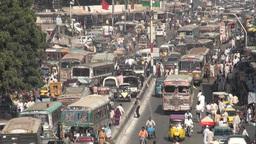 Traffic in Karachi Stock Video Footage