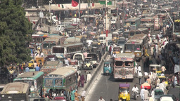 Traffic in Karachi Stock Video Footage