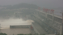 Three Gorges Dam, energy, China Stock Video Footage