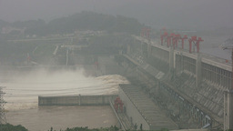 Three Gorges Dam, energy, China Footage