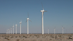 Wind farm in China Stock Video Footage