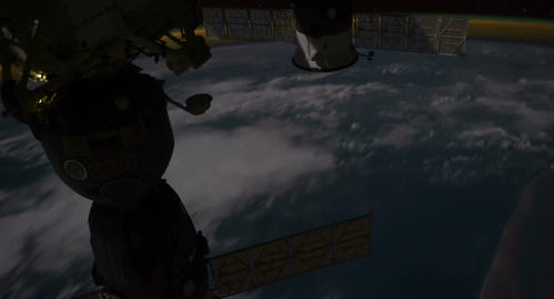 4 K Space Station 02 Africa Stock Video Footage