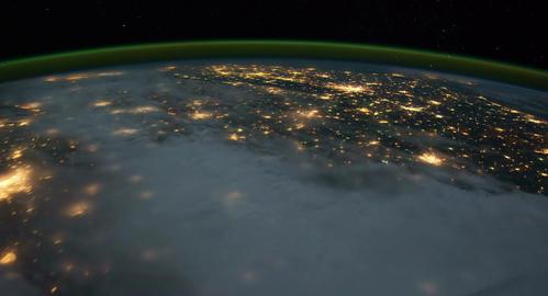 4 K Space Station 13 USA Footage