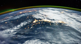 4 K Space Station 15 USA Stock Video Footage