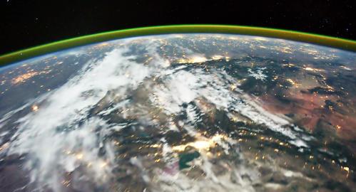 4 K Space Station 15 USA Footage