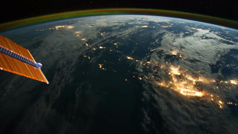 Space Station 01 USA Stock Video Footage