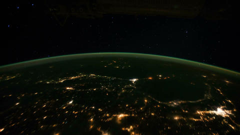 Space Station 03 Africa Stock Video Footage