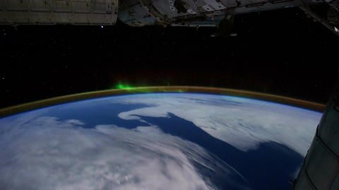 Space Station 05 Aurora Borealis Footage