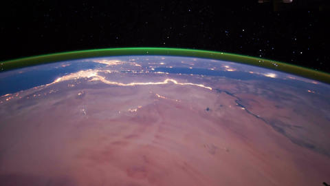 Space Station 10 Middle East Stock Video Footage