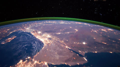 Space Station 10 Middle East Footage