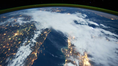 Space Station 18 Western Europe Stock Video Footage