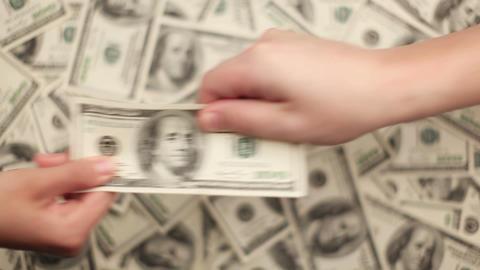Money, Lots of hundred dollar bills Footage