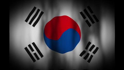 韓国の国旗 CG動画