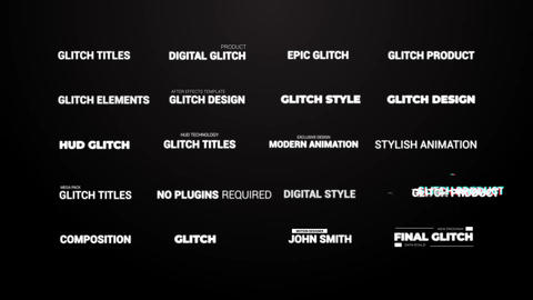 Glitch Titles After Effects Template