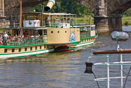 Paddle steamer on the Elbe in Dresden Photo